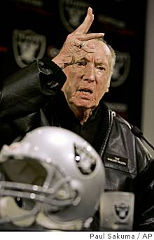 (The scene: Al Davis, 6 games after signing DeAngelo Hall to a $70 million contract, releases him. At the press conference he turns to Hall . . .) Avada Kedavra!!